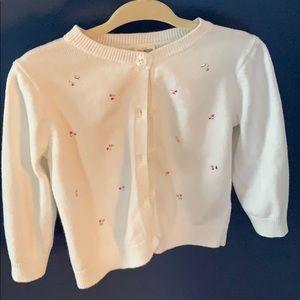 Oshkosh B'gosh white sweater 24M EUC